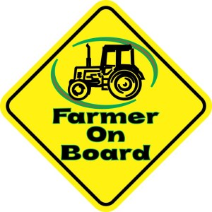 Farmer On Board Magnet