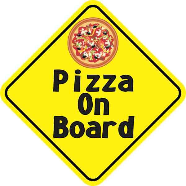 Pizza On Board Sticker