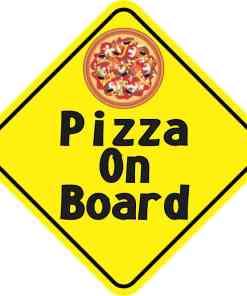Pizza On Board Sticker