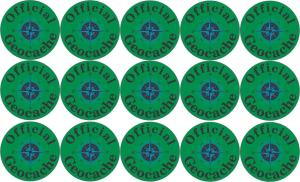Official Geocache Micro Cache Stickers