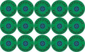 Official Geocache Micro Cache Stickers