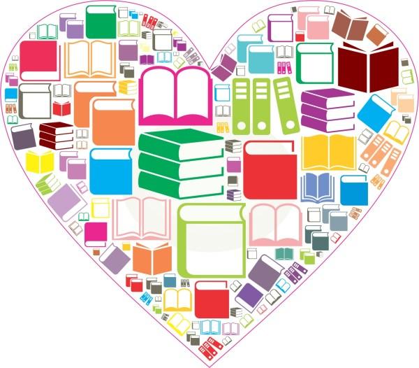 Book Heart Sticker