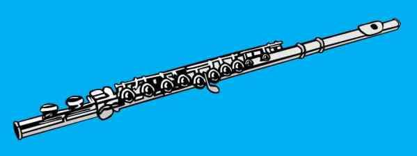 Blue Flute Bumper Sticker