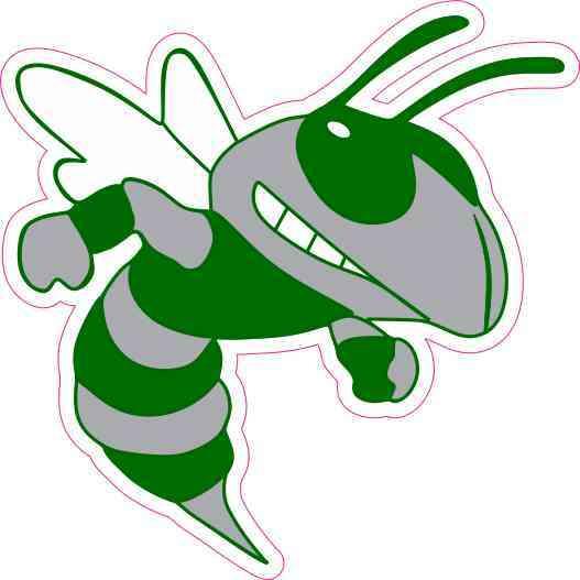 Hornet Mascot Bumper Sticker