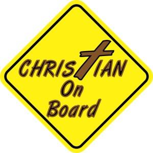Christian On Board Sticker