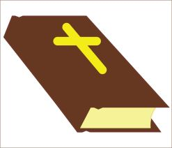 brown bible sticker