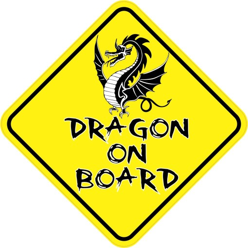 Dragon On Board Sticker