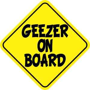 Geezer On Board Magnet
