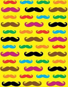 Assorted Color Mustache Vinyl Sheet
