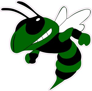 Green Angry Hornet Decal