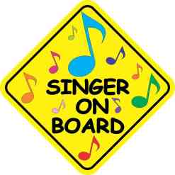 Singer On Board Sticker