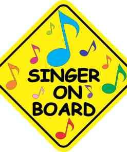 Singer On Board Sticker