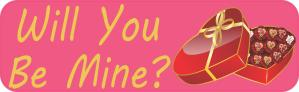 Will You Be Mine Valentine Stickers
