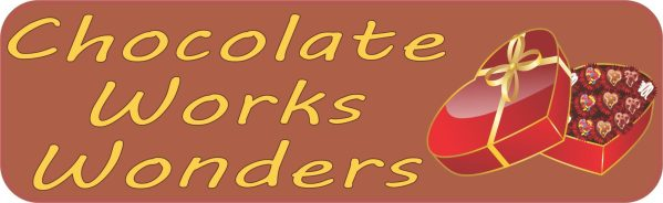 Chocolate Works Wonders Valentine Stickers