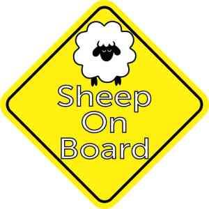 Sheep On Board Sticker