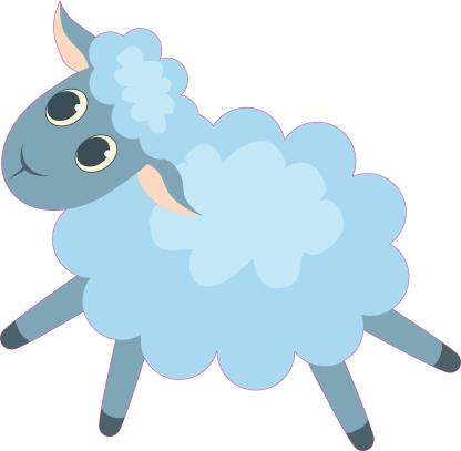 Baby Blue Sheep Stickers