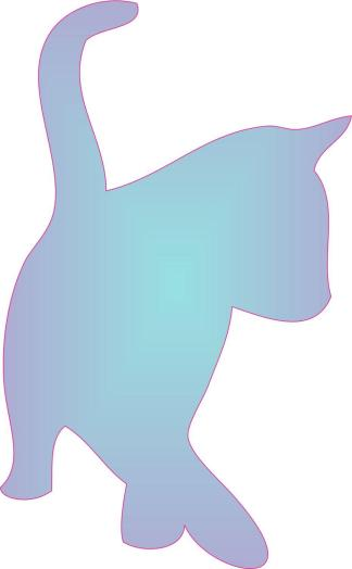 Blue Fade Cat Car Decals