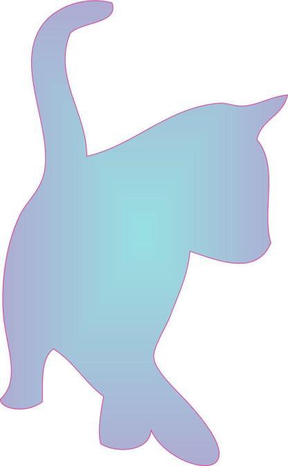 Blue Fade Cat Car Decals