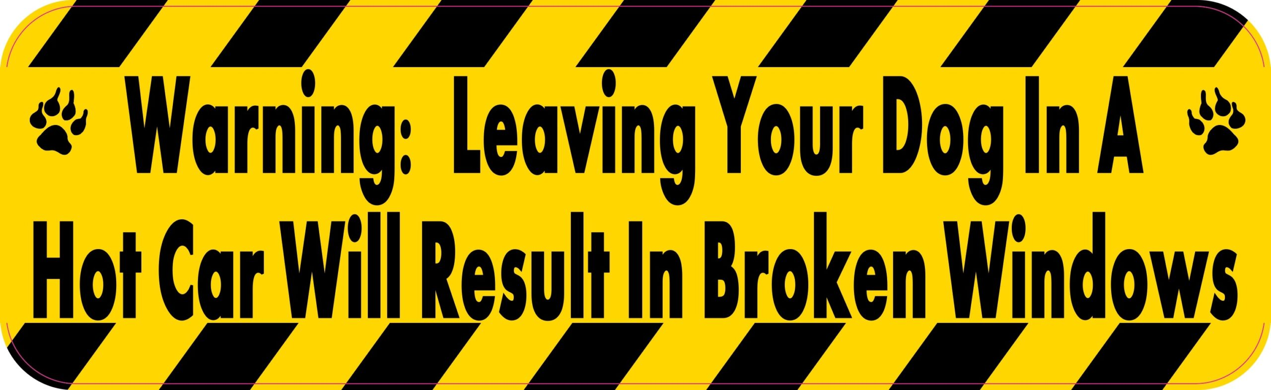10in x 3in warning leaving your dog stickers bumper sticker decal car decals