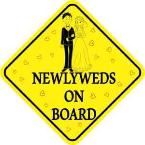 Newlyweds On Board Magnet