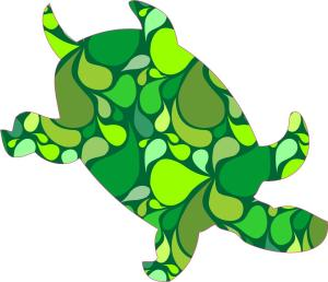 Green Paisley Sea Turtle Stickers