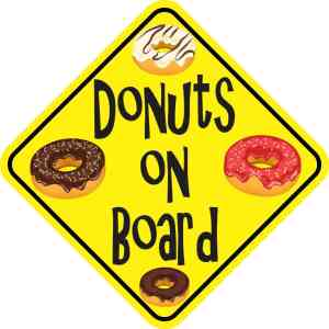 Donuts On Board Magnet