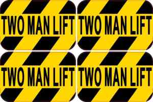 Two Man Lift Stickers