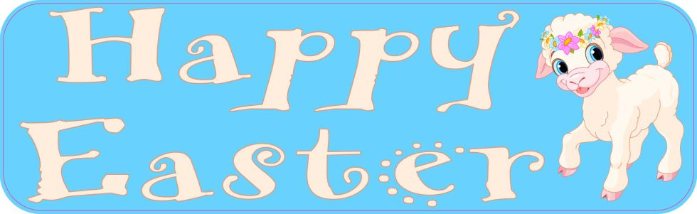 Happy Easter Bumper Sticker