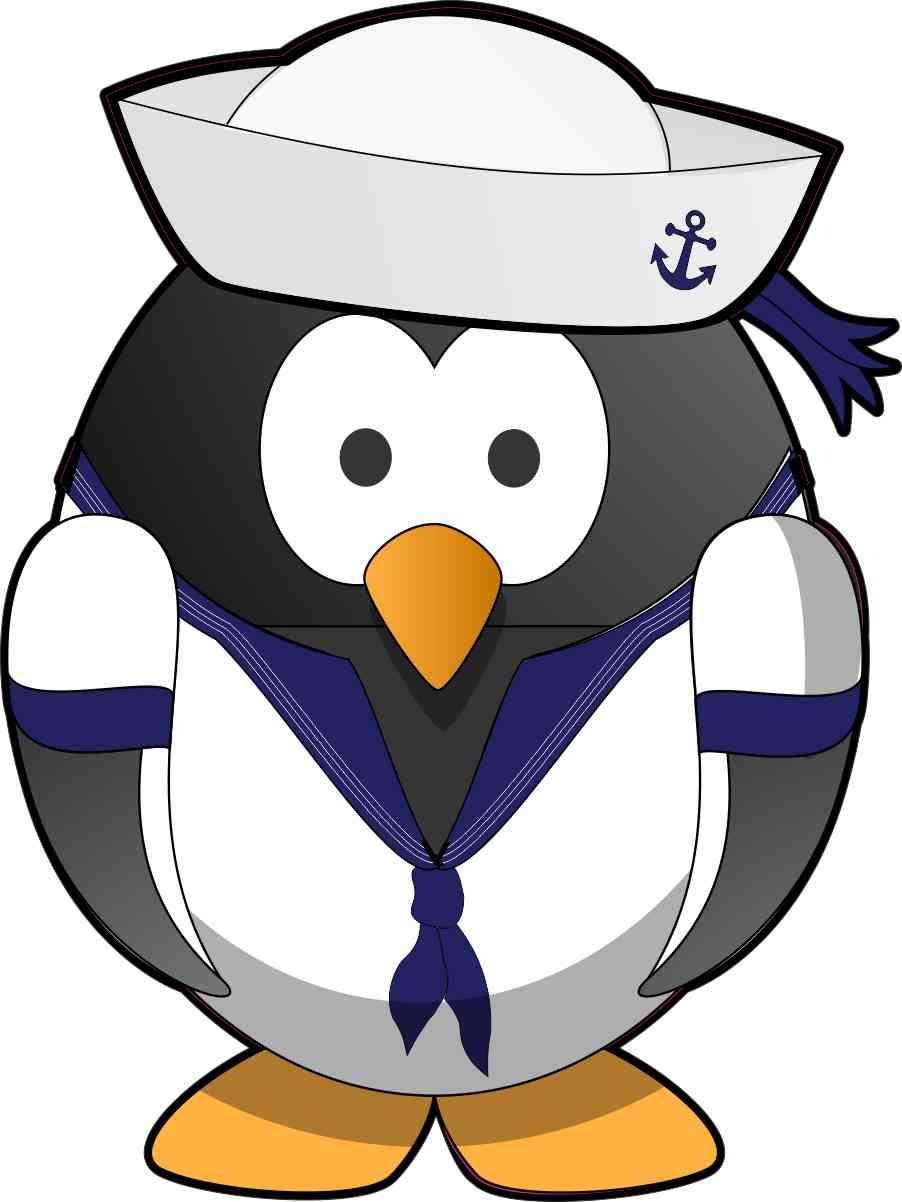 sailor penguin bumper sticker