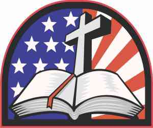 American Cross Bible bumper sticker