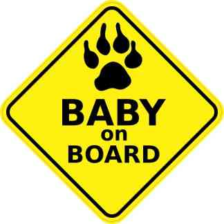 Dog Baby on Board Sticker