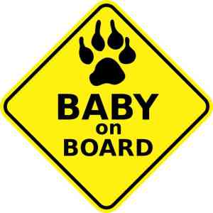 Dog Baby on Board Magnet