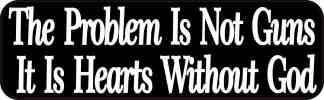 the problem is not guns bumper