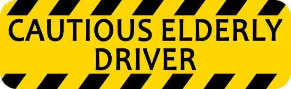 elderly driver bumper