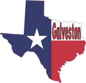 Galveston Texas Flag decal
