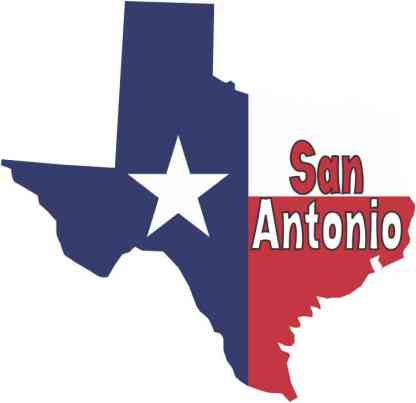 San Antonio Texas Flag car decal