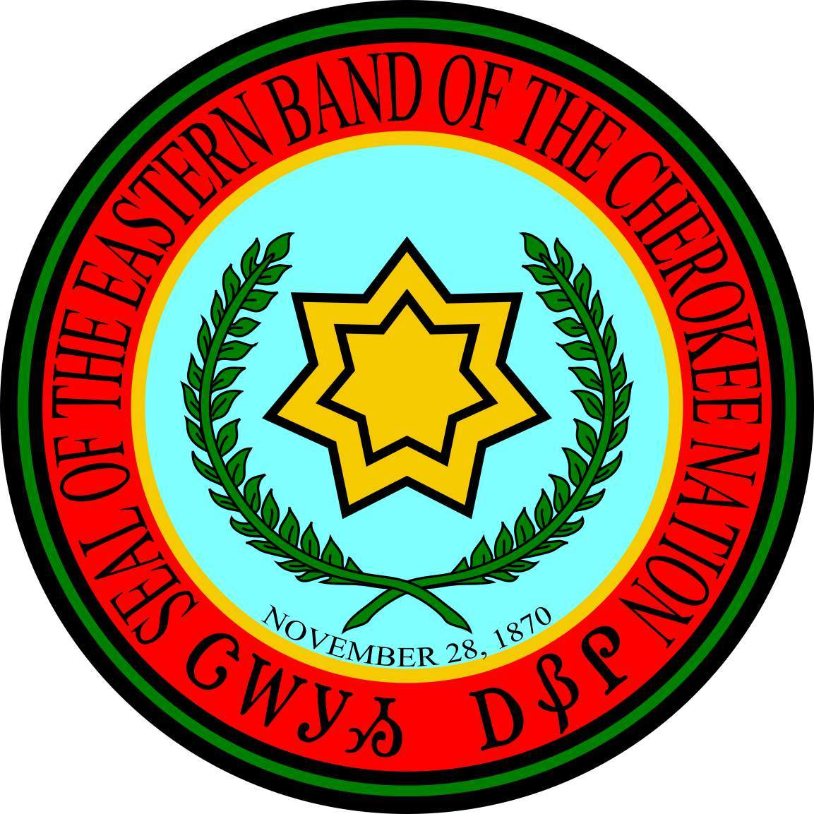 Cherokee nation seal sticker