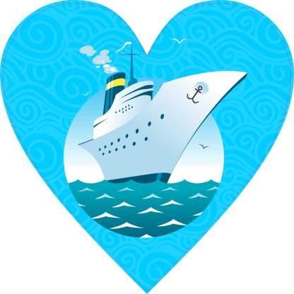 Cruise Heart bumper sticker