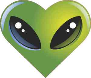 Alien Heart bumper sticker