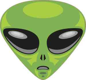 Green Alien bumper sticker