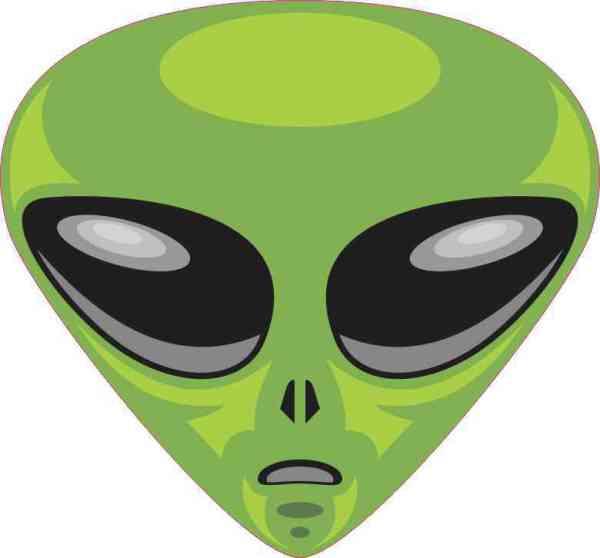 Green Alien bumper sticker