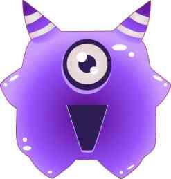 Purple Alien bumper sticker