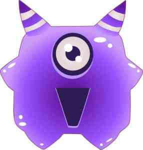 Purple Alien bumper sticker