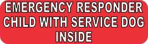 service dog inside