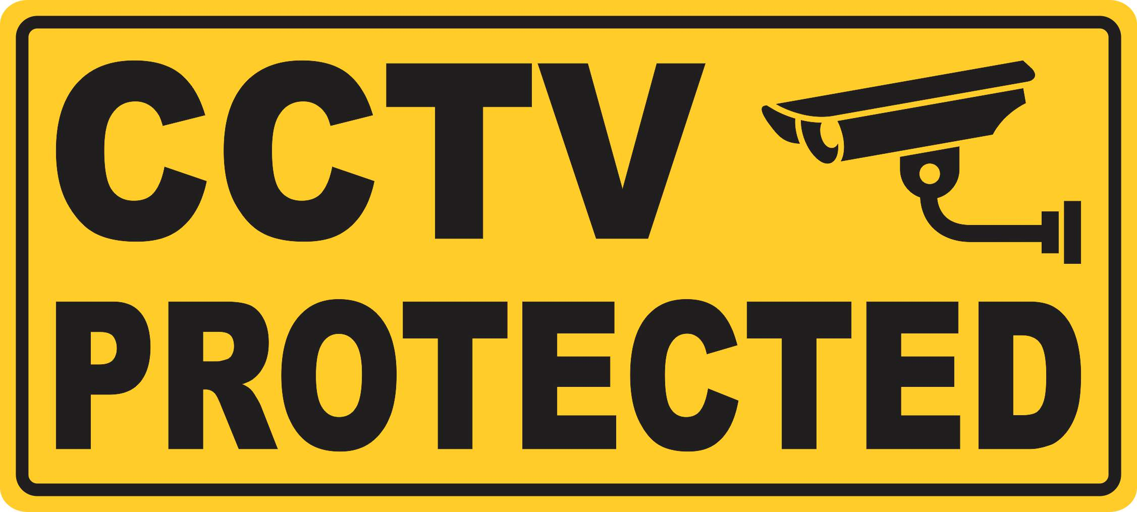 10in x 4 5in cctv protected sticker vinyl decal door decals sign stickers
