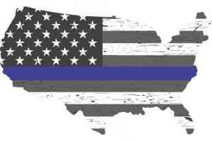 Rustic America Blue Lives Matter sticker