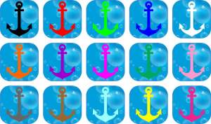 Solid Anchor stickers