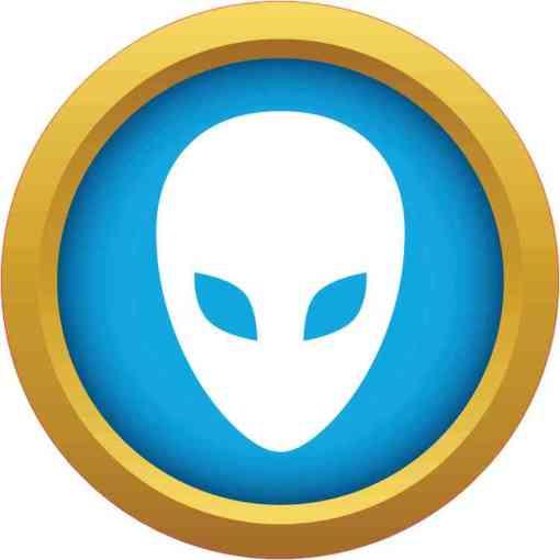 Blue and Gold Alien bumper sticker