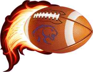 Blue Cougar Flame Football sticker