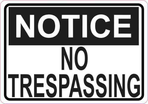 no trespassing magnet